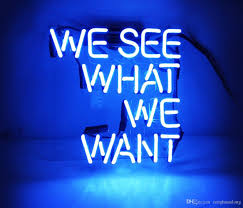 Neon Bedroom 2017 Fashion New Handcraft Neon Sign We See What We Want Real