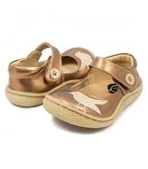 mary jane toddler kids leather girls shoe copper metallic pio