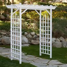 steel arch arbor hayneedle