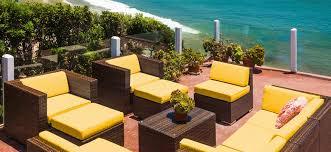 ohana outdoor wicker patio furniture sunbrella yellow couch