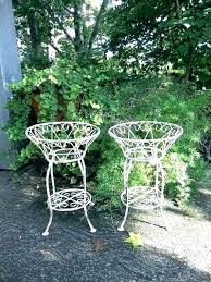 wrought iron hanging plant stands outdoor spiral stand lovable garden decor reserve vint