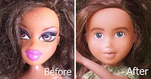 australian mom turns bratz dolls into regular s by removing their unrealistic makeup