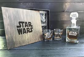star wars whiskey decanter set personalized decanter set gift for men groomsmen gift whiskey decanter whiskey glasses personalized glasses