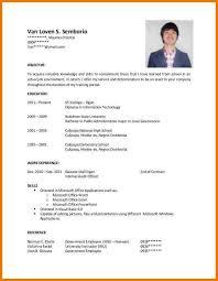 Sample Cover Letter For Job Resumes Sample Application Letter For Ojt Senior High School Cover