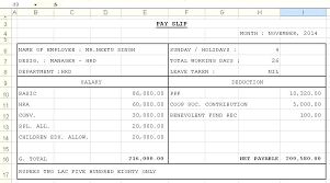 Payment Slip Format In Word Mesmerizing Pay Slip Template