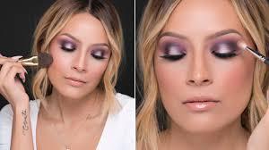 purple holiday makeup look