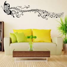 Music Living Room Classical Music Butterfly Room Decor Art Decals Vinyl Art
