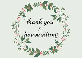 House Sitting House Sitting Thank You Notes Archives Thank You Note Wording