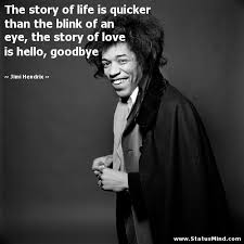 Jimi Hendrix Quotes Adorable The Story Of Life Is Quicker Than The Blink Of An StatusMind