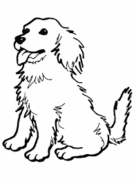 Small Picture Coloring Page Of A Dog Dogs Pages Printable Cute Little Free Pages