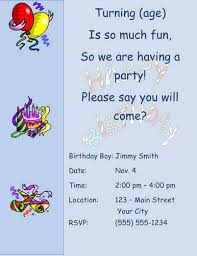 text invitation birthday party 33 free diy printable party invitations for kids hloom