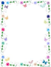 Floral Borders For Word Flowers Word Border Templates Free