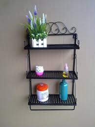 wrought iron bathroom shelf. Bathroom Wall Shelves Wrought Iron Craft Towel Rack Corner Shelf A