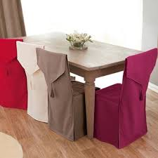 dining table slipcovers for chairs chaise diy pillows chair cushions sweet housses de chaise bachette colombine blancheporte
