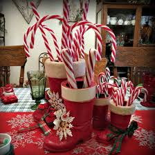 Candy Cane Table Decorations Top 60 Decoration Ideas With Santa Boots Christmas Celebration 37