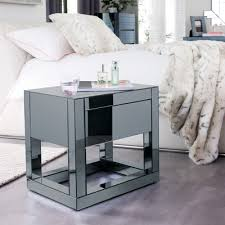 mirror bedside table. reflect mirrored bedside table mirror r