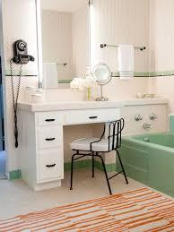 vintage bathroom designs. inspiration for a small 1950s master white tile and ceramic floor bathroom remodel in vintage designs