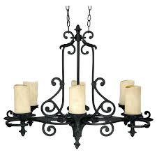 six light wrought iron candle chandelier antique cast candlestick holders