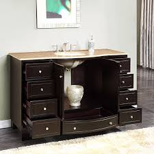 silkroad 60 inch single sink bathroom vanity dark walnut finish silkroad 55 inch single sink bathroom vanity travertine top silkroad 55 inch single bathroom