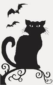 halloween black cat silhouette. Unique Halloween Halloween Black Cats  Google Search Throughout Halloween Black Cat Silhouette L