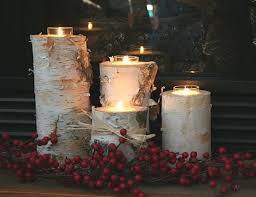 Birch Candle Holders - Set of 4 - Regular Diameter Wilson Evergreens,http:/