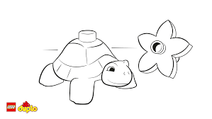 Small Picture LEGO DUPLO Turtle coloring page Coloring page LEGO Duplo