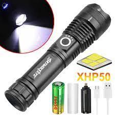 Đèn Pin Led Xhp50 350000 Lumens Sạc Được