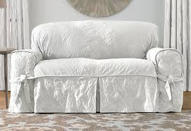 these will be my new slipcovers for my family room matele damask slipcovers in white 139 00 from surefit