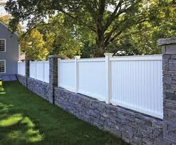 Vinyl Privacy Fence Ideas Universal Board On Stone In Design