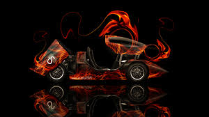 holden hurricane fire abstract car
