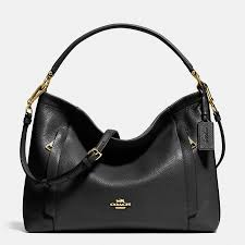 Coach Scout Hobo In Pebble Leather Black