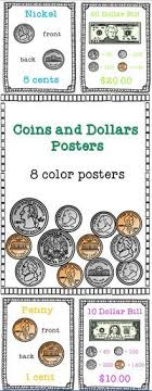 Coins And Dollars Posters Teaching Money Money Chart