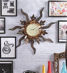 brown solid wood og wall clock