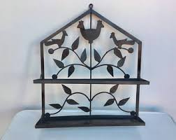 wrought iron bathroom shelf. Vintage Iron Wall Shelf - Black Wrought Shelving Unit Garden Bathroom