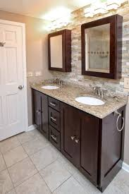 Bathroom Cabinets : View Bathroom Cabinet Dark Wood Style Home ...