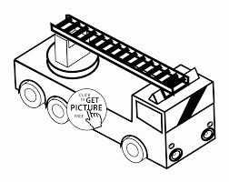 Small Picture Toy Fire Truck coloring page for kids transportation coloring
