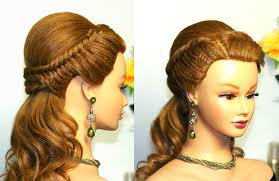 You Tube Hair Style easy prom hairstyle for long hair with fishtail braids youtube 2594 by wearticles.com