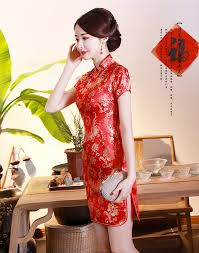 ชุดกี่เพ้าสีแดงพิมพ์ลาย (S,M,L,XL,2XL,3XL,4XL,5XL,6XL) J4029 -  เสื้อผ้าคนอ้วน เสื้อผ้าไซส์ใหญ่ ชุดเดรสคนอ้วน เสื้อผ้าสาวอวบ  เสื้อผ้าทำงานคนอ้วน ชุดกี่เพ้าไซส์ใหญ่ : Inspired by LnwShop.com