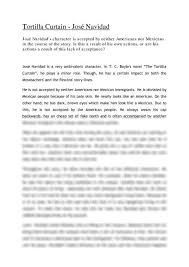 jose navidads role in tortilla curtain essay aufsatz jose navidads role in tortilla curtain when he appears for the first time during the