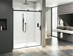 black shower door trending matte black in the bathroom black shower doors south africa
