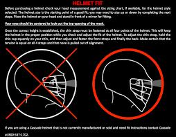 Cascade Lacrosse Helmet Sizing Chart Cascade Lacrosse Helmet