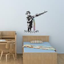 stencil munitions banksy wall decal image  on banksy wall art sticker with stencil munitions banksy wall decal sticker banksyshop