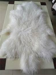 details about white mongolian tibetan fur rug throw lamskin fur hide pelt curly hair carpet