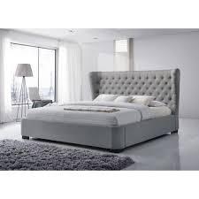 Upholstered King Platform Bed Tufted Making Upholstered King