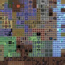 the 256 first rooms numbered from 0 to 255 are what i ll call the primary exploration zone they are distributed on a 16x16 square as follows hover over