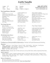 musical theatre resume