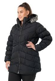 raiski tina black womens plus size puffer jacket front