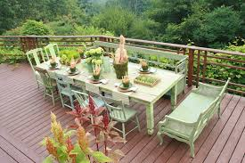 painting chair rail deck rustic with farmhouse table wooden outdoor side tables