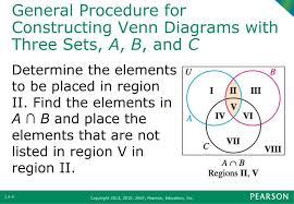A Not B Venn Diagram Ppt Section 2 4 Venn Diagrams With Three Sets And
