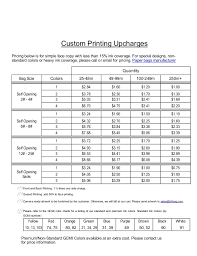 Gcmi Color Chart Printing Upcharges With Gcmi Info Revised 1 31 2014